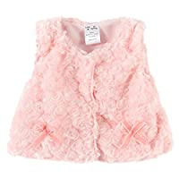 LittleSpring Baby Girls' Vest Buttons Bow Size 9M Pink-pink-bow