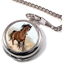 Arabian Horse Full Hunter Pocket Watch
