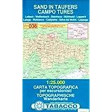 Sand in Taufers: Wanderkarte Tabacco 036. 1:25000 (Cartes Topograh)