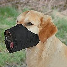 Bozal para perros, Nylon, XS, Negro