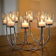 Vacker Bärmeljus Glas Ljusstake Bröllop Jul Bord Mittpunkt Dekoration
