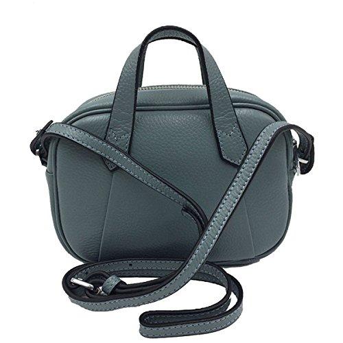 Frauen Vintage Top Griff Schulranzen Handtaschen Taschen Handtasche Multicolor Blue
