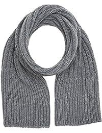 Wrangler Men's Chunky Knit Scarf, Grey (Grey 37), One Size (Manufacturer Size: 88/88)