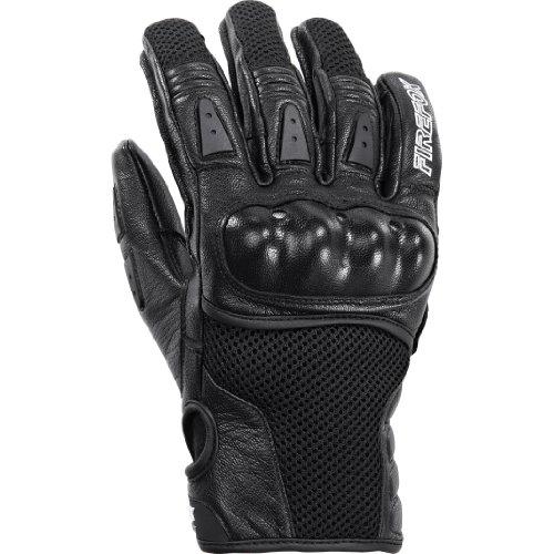 8.5 Leder (FIREFOX Motorradschutzhandschuhe, Motorradhandschuhe kurz Sport Leder-/Textilhandschuh 1.0 schwarz 8,5, Unisex, Sportler, Sommer, Leder/Textil)