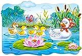Unbekannt 20 Teile Puzzle - Kinderpuzzle Kinder - Maxi - Enten / das hässliche Entlein - MÄRCHEN Castorland - Puzzel - am See - Maxipuzzle - große Teile / Bodenpuzzle