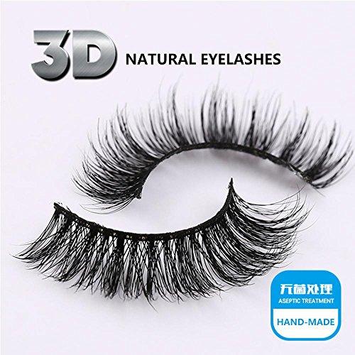 Falsche Wimpern - 1 Paar Packung Hochwertige natürliche 3D falsche Wimpern natürlichen Look für Make-up Wimpern Verlängerung , 3D-49