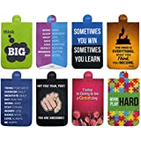 QuoteSutra Set Of 8 Special Gift Magnetic Bookmark Collection For Positivty | Best Gift For Book Lovers, Friends And Family