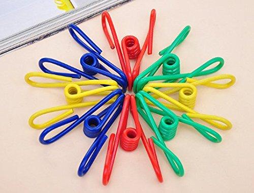 uchic 20 Stück/Pack Utility Clips Mehrzweck Schirmhaspel Tasche Stahldraht Clips Wäscheklammern Pins für Trocknen Home Laundry Büro Cord Verschluss Socken Schals zufällige Farben - Utility Bolt