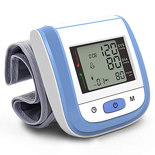 Directtyteam Automatic Wrist Blood Pressure Cuff Monitor - Fast Accurate Readings and FDA CEApproved, Batteries and Case Included size Eine Größe (Blau)