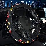 SRKL Coprivolante per Auto, Ricamo Farfalla Floreale,Custodia Protettiva Antiscivolo Traspirante Adatta per La Maggior Parte dei Modelli (Dimensioni:38Cm),B
