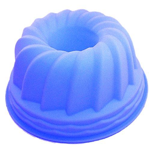 Gugelhupf Silikon Backform 21 cm in blau OHNE EINFETTEN einfach backen praktische Kuchenform / Silikonbackform