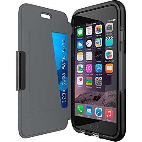 Tech21 Evo Wallet Flip Folio Schutzhülle Widerstandsfähig Schlagfest mit FlexShock Aufprallschutz und Kartenfach für iPhone 6 / 6s (Neu) -