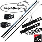DAM Steelpower Blue Surf 100-250g Brandungsrute mit Angel Berger Rutenband (4.20m / 100-250g)