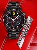 Scuderia Ferrari Orologio Cronografo Quarzo Uomo con Cinturino in Silicone 830620