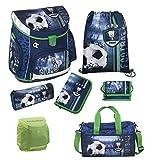 Fußball Schulranzen Scooli Campus Up 7tlg. Set mit Sporttasche und Regen/Sicherheitshülle FCPR8252