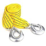 BeiLan 6614 lbs 3t 3m Cables de Remolque de Automóviles Correas con Gancho Vehículo Emergencia Recuperación Seguridad Poliéster Correa de hilado