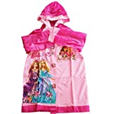 Girl's Trendy Pink Waterproof Rain Wear Raincoat