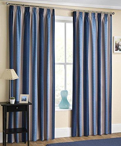 Blue Striped Curtains: Amazon.co.uk