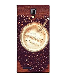 PrintVisa Designer Back Case Cover for Micromax Canvas Xpress A99 (foggy delicious coffee with beans)