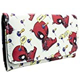 Marvel Deadpool Chibi Quote Bubbles Weiß Portemonnaie Geldbörse