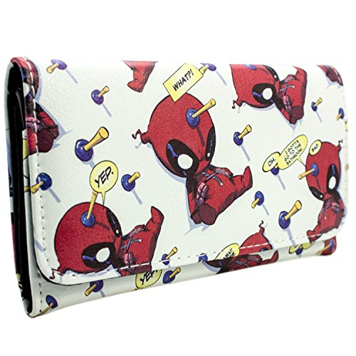 Marvel Deadpool Chibi Quote Bubbles Weiß Portemonnaie ()