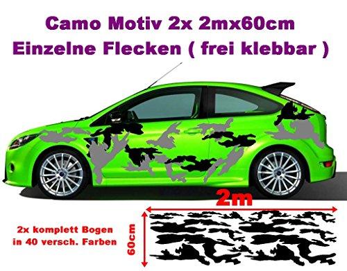 Arktis Camo 2x 2m Camouflage Camo einzelne Flecken Autoaufkleber Aufkleber Sticker Folie Style Bodystyle Karosserieaufkleber Karosseriefolie