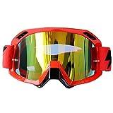 Moto Cross-Country occhiali di colore Occhiali da equitazione outdoor Occhiali da sci , red