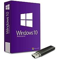 Windows 10 Pro Lizenz-Key 32/64 Bit Deutsch Vollversion + Bootable USB-Stick