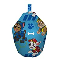 Paw Patrol Pawsome Chase/Marshall and Rubble Machine Washable Bean Bag, Fabric, Blue, 52 x 38 x 52 cm