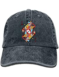 c0206f8b9a1 GHEDPO Poker Denim Baseball Caps Hat Adjustable Cotton Sport Strap Cap for  Men Women