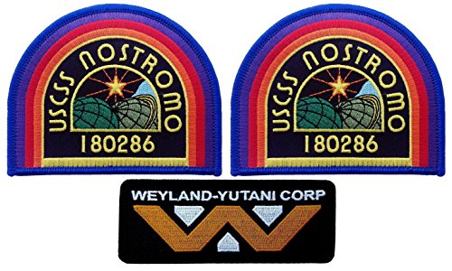 Nostromo Alien Kostüm - USCSS Nostromo Weyland Yutani Corp Alien Movie Collector Cosplay Patch Set Von Titan One Europe