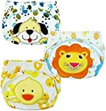 JZHY 3Pcs Training Pants Cute Baby Infant Kids Training Pants Washable Cloth Diaper Nappy Underwear-Boy,XL