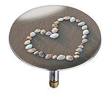Wenko 21842100 Vasca da bagno Pluggy XXL Shell Heart, tappo per lavandino, per tutti i sistemi di scarico, in plastica, 7,5 x 6 x 7,5 cm, Multicolore