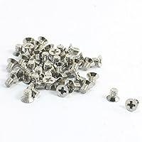 Tornillos especiales de huecos - TOOGOO(R) 50 piezas metal M3 x 4 mm tornillos de cruz empotrada avellanada de cabeza plana