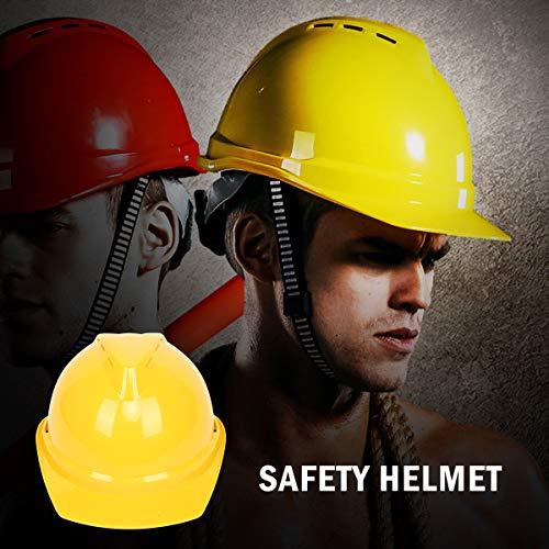 Elmetto casco di sicurezza-Maso EN3975colori unisex di punti di sicurezza casco ventilato Twist lock-Kit per guida, poteri, Architect, Ladder, ingegneri, giallo
