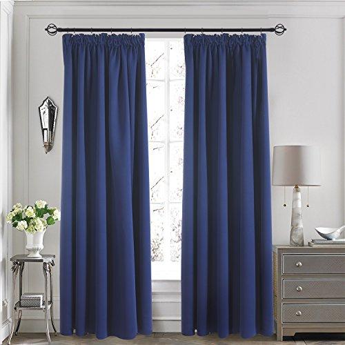 Amazon Curtains Blackout: Blackout Pencil Pleat Curtains: Amazon.co.uk