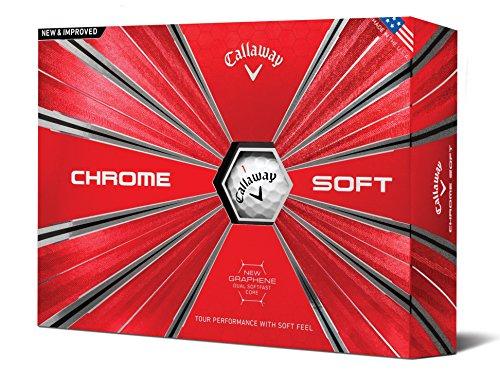 Callaway Chrome Doux Balles de Golf (Lot DE 12) (2018Version), Mixte, Chrome Soft, Blanc