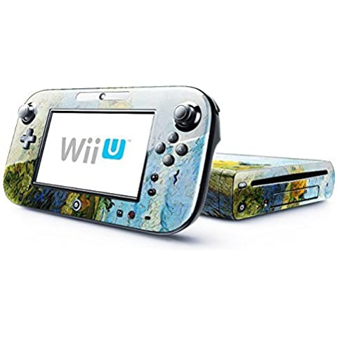 Van Gogh - Barn On A Rainy Day, Skin Sticker Vinyl Cover with Leather Effect Laminate and Colorful Design for Nintendo Wii U by Virano
