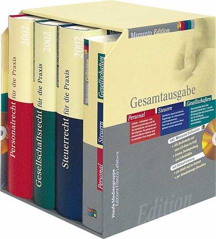 Memento Gesamtausgabe, Edition 2003 Personal, Steuern, Gesellschaften, 1 CD-ROM m. 3 Handbüchern Für Windows 95/98/2000/NT/XP, Microsoft Internet Explorer 4.0