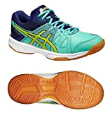 Asics Gel-Upcourt GS, Unisex-Erwachsene Volleyballschuhe, Blau (Aqua Mint/Flash Yellow/Indigo 7007), 38 EU