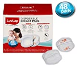 #9: LuvLap Disposable Breast Pads - Ultra Thin and Super Absorbent - Pack of 48