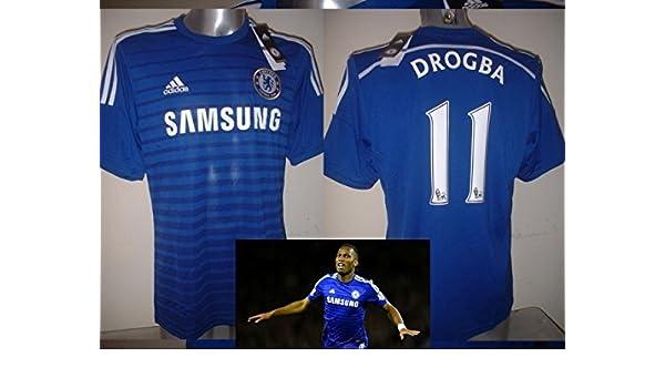 5e4ba48511a adidas Chelsea DIDIER DROGBA Large BNWT Jersey Shirt Soccer New Ivory Coast  Top: Amazon.co.uk: Sports & Outdoors