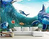 Benutzerdefinierte Wandbild 3D Stereo Persönlichkeit große Wandbild Kinderzimmer Wohnzimmer Aquarium Unterwasserwelt Tapete Wandbild