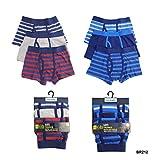6 Paar Jungs Boxer Shorts, Gestreift Baumwolle Designer Badehose Boxer Unterwäsche 5-12 - , 134-140, Gestreift