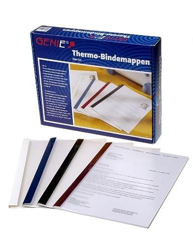 Genie 10258 Thermobindemappen (50 Mappen im Set in 4 verschiedenen Farben und Breiten, geeignet für jedes DIN A4 Thermobindegerät) 50er (Jedes Set)
