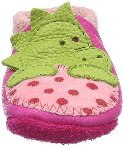 Pololo - Pololo Dino, Scarpine e pantofole primi passi Bimba 0-24 Rosa (Pink)