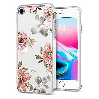 iPhone 8 Case, Spigen® [Liquid Crystal] iPhone 7 Case [Aquarelle Rose] with Slim Protection and Premium TPU for Apple iPhone 7/8 - Aquarelle Rose(flowers pattern) - 054CS22619