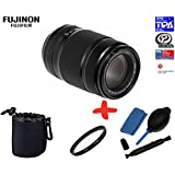 Bundle Fujifilm XF-55-200mm f3.5-f4.8 OIS + 62mm UV Lens Filter + Lens Pouch + Lens Cleaning Kit (suitable for X-Pro2 XPro2 X-A2 XA2 X-E1 XE1 X-E2 XE2 X-M1 XM1 X-M2 XM2 X-T1 XT1 X-T10 XT10)