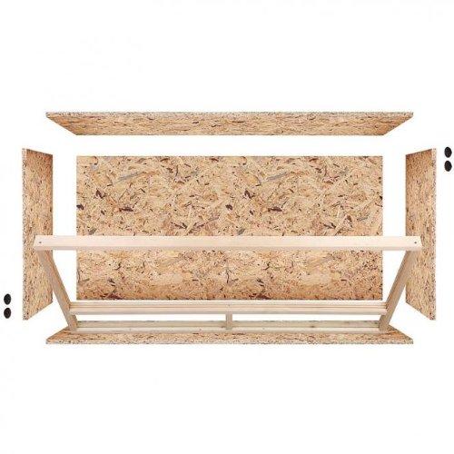 Repiterra® Terrarium aus Holz 120x60x60 cm mit Seitenbelüftung aus OSB Platten mit Floatglas - 3