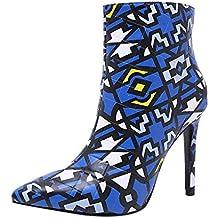 Botas Mujer Invierno, Btruely Botines Cortos Moda Mujer Stiletto Botas Puntiagudas Botas de Cremallera tacón